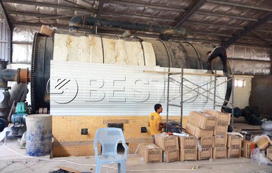 Beston waste plastic recycling machineryinstallation in Jordan